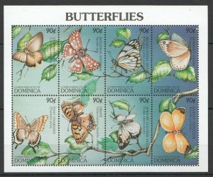 PK283 DOMINICA FAUNA INSECTS BUTTERFLIES INSECTS 1KB MNH STAMPS