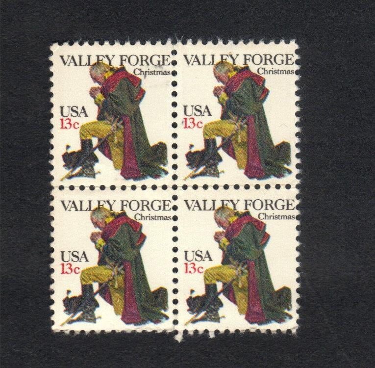 US Stamp #1729 (Center Block Of 4)MNH Vally Forge Christmas 13 Cent