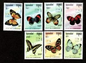 Cambodia #997-1003 F-VF Mint NH ** Butterflies