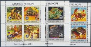 Sao Tomé e Príncipe stamp Scouting and natural sciences 3 minisheet MNH WS164715