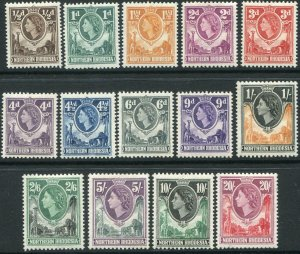 NORTHERN RHODESIA-1953 Set to 20/- Sg 61-74 MOUNTED MINT V48301
