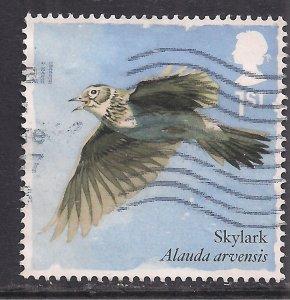 GB 2017 QE2 1st Songbirds ' Skylark ' used SG 3952  ( J853 )