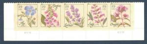 4505-09 Herbs Bottom Strip Of 5 With Plate Numbers Mint/nh (Free Shipping)