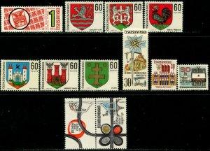 CZECHOSLOVAKIA Sc#1760-1777 1971 Six Complete Sets OG Mint NH