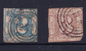Thurn & Taxis a used  2sgr  & a 3 sgr