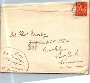 Clairemorris Co Mayo IR > Brooklyn NY 1921 cover