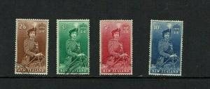 New Zealand:1953 Queen on Horseback, high value definitive stamps, good used.