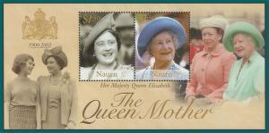 Nauru 2002 Queen Mother, MS MNH  #501,SGMS548
