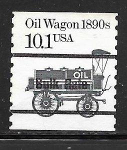 USA 2130av: 10.1c Oil Wagon, Precancel single, black ink, used, VF