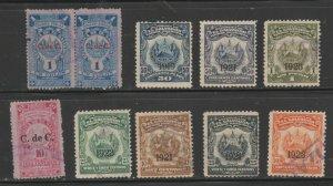El Salvador Revenue fiscal stamp ml686 cinderella mix  better lot