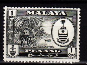 Malaya - Penang - #56 Copra/Crest - Used