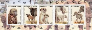Namibia 1998 Sc#915 Animals and Their Young Sheetlet (5) MNH