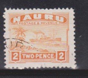 NAURU Scott # 20a Used - Ship Palm Trees & Beach