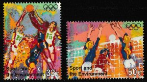 United Nations New York 683-684 Sport and the Environment 32c 50c set MNH 1996