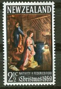 New Zealand # 429 Christmas 1969 - Watermarked (1) Mint NH
