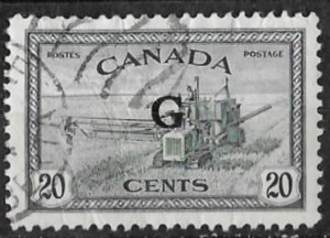 Canada # O23  G  Official Overprint   20c   (1) VF Used