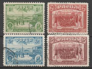 PAPUA 1934 50TH ANNIVERSARY SET USED