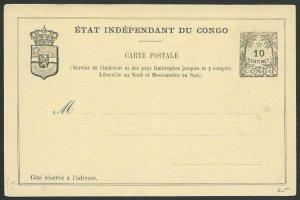 BELGIAN CONGO 10c postcard - fine unused...................................51231
