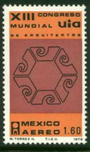 MEXICO C585, Congress of the Int Union of Architects. MINT, NH. F-VF.