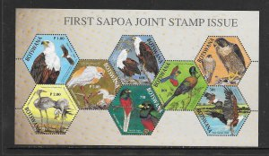 BIRDS - BOTSWANA #793 SAPOA JOINT ISSUE  MNH