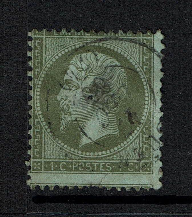 France SC# 22, Used, Large Center Thin, Hole - Lot 061317
