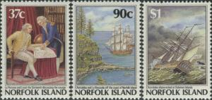 Norfolk Island 1987 SG433-435 Settlement 4th issue MNH