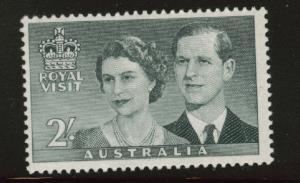 AUSTRALIA Scott 269 MH* 1954 QE2 Royal Visit