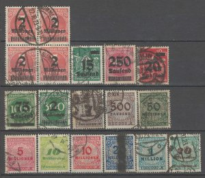COLLECTION LOT # 4303 GERMANY 18 STAMPS 1923+ CV+$31