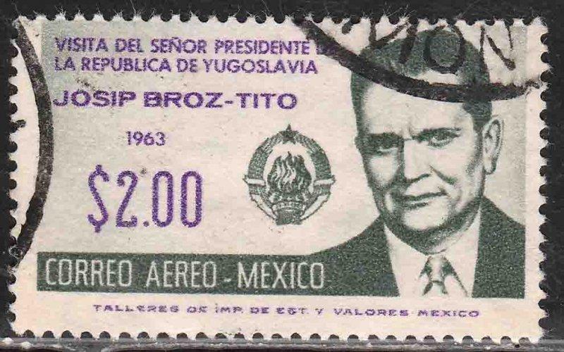 MEXICO C275, Visit of Marshall Tito of Yugoslavia..USED. VF. (629)