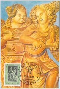 72663 - ITALY  -   MAXIMUM CARD 1973 -  MUSIC Art RELIGION - ANGELS