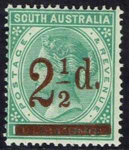 SOUTH AUSTRALIA 1891 QV 21/2D ON 4D MNH ** PERF 15