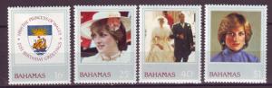 J16172 JLstamps 1982 bahamas set mh #510-13 royality