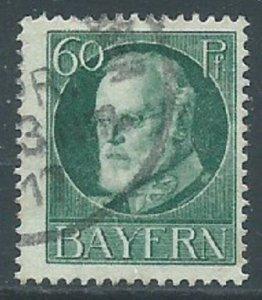Bavaria, Sc #107, 60pf, Used