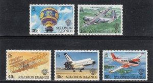 Solomon Islands Scott #497-501 MNH