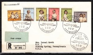 Luxembourg, Scott cat. B228-B233. Royal Children Issue. First day cover. ^