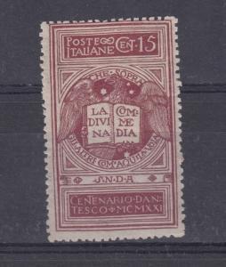 Italy 1922 Dante 15c SG115 MVLH J3443