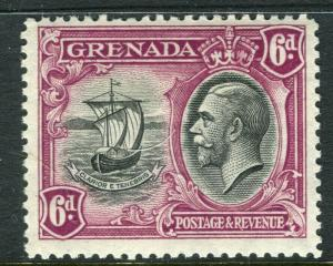 GRENADA; 1934 early GV Pictorial issue fine Mint hinged 6d. value