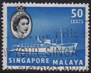 Singapore - 1955 - Scott #38 - used - Liner Ship