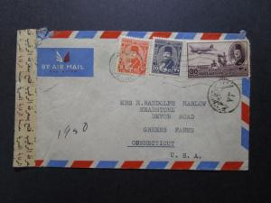 Egypt 1950 Censor Cover to USA - Z7690