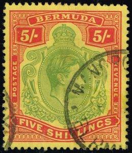 Bermuda #125 King George VI; Used (3Stars)