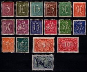 Germany 1921 Weimar Rep. Definitive Set [Unused]