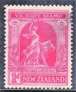 NEW ZEALAND SC# 166  USED PEACE& LION  SEE SCAN