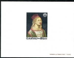 FRANCE 1688 DELUXE SOUVENIR SHEET, ART, DURER