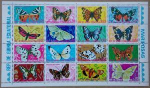 1975 Butterflies MNH Miniature Sheet from Equatorial Guinea