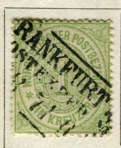 GERMANY; NORTH STATES 1869 early classic fine used 1k. value