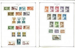 Viet Nam 1951-1975 Mint(mostly) & Hinged on 21 Scott  International Pages.