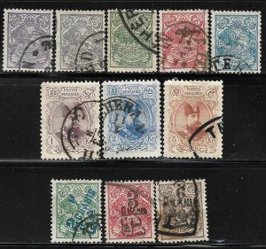 COLLECTION LOT # 331 IRAN 11 STAMPS 1902+