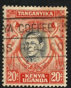 Kenya, Uganda, Tanzania 1942 Scott# 74 Used perf 13 x 13 1/2