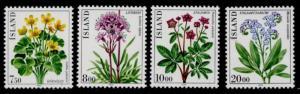 Iceland 567-70 MNH Flowers