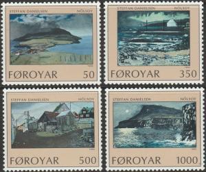 Faroe Islands, #212-215  Unused  From 1990
